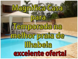 Casas para temporada em Ilhabela