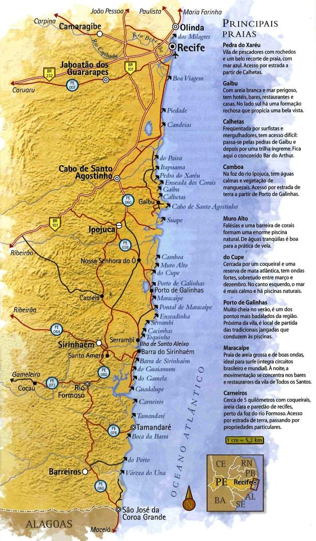 Cabo De Santo Agostinho é O Lugar Mais Ocidental De Pernambuco - Cabo de santo agostinho map