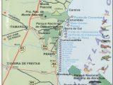 Mapa das Praias de Prado na Bahia