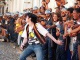 Olodum com Michael Jackson em Salvador da Bahia