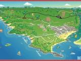 mapa de Itacaré na Bahia