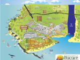 Mapa turistico de Itacaré na Bahia