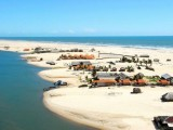 As dunas dos Lençóis Maranhenses tem uma aparencia de gigantescos lençóis