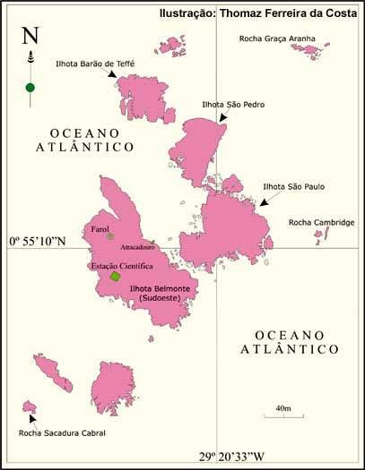 Mapa Arquipélago de São Pedro e São Paulo