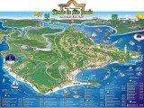 mapa turístico do Morro de São Paulo - BA