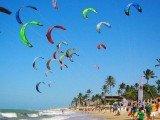 Costa dos Ventos atrae turistas interessados no sol e nos bons ventos