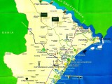 Mapa Cânion do Xingó SE
