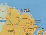 Mapa Floresta dos Guarás no Maranhão