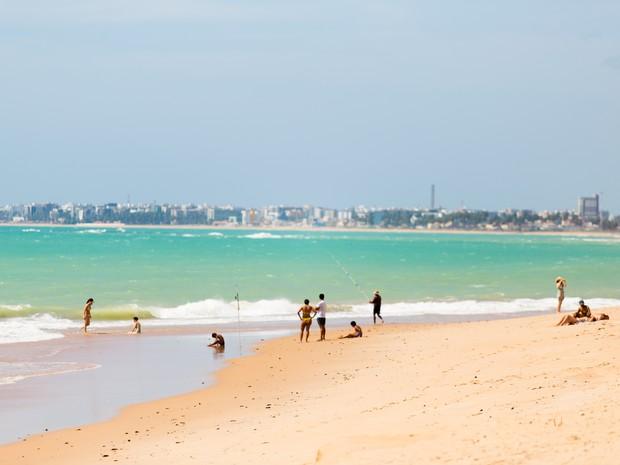 Praia de Guaxuma em Alagoas