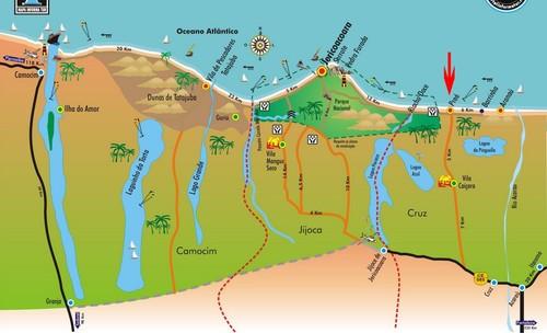 Litoral Oeste do Ceará está a praia de Jericoacoara