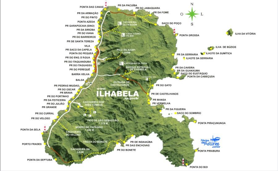 Mapa de Ilhabela