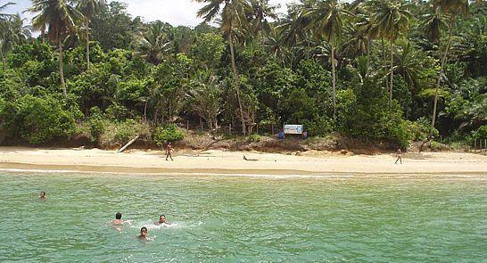 Praia da Viração na Ilha dos Frades