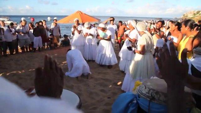 Festa de Iemanjá na praia do Rio Vermelho em Salvador