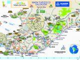 Mapa dos pontos turísticos de Salvador da Bahia