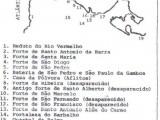 Mapa dos Fortes de Salvador da Bahia