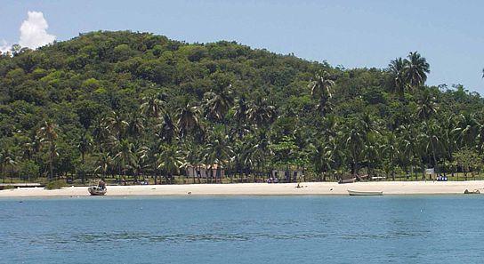 Praia de Loreto na Ilha dos Frades