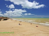 Praia de Mucuri na Bahia
