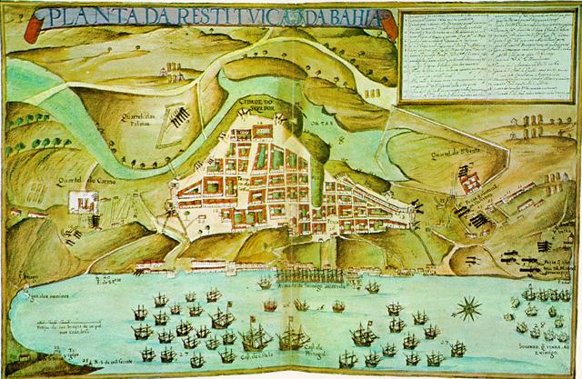 Mapa Antigo de Salvador