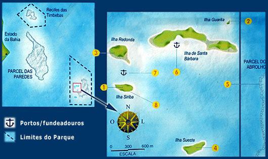 Mapa do Arquipélago de Abrolhos