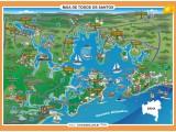 Mapa da Baía de Todos os Santos