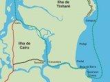 Mapa da Ilha de Tinharé