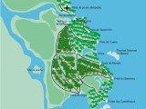 mapa da Ilha de Boipeba na Bahia