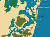 Mapa da Península de Maraú