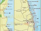 Mapa do litoral João Pessoa e Paraíba