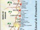mapa praias de Pernambuco