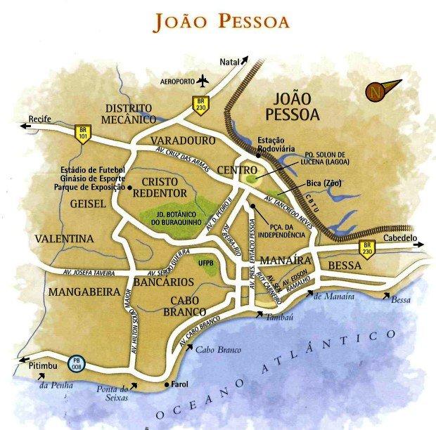 Mapa de João Pessoa PB