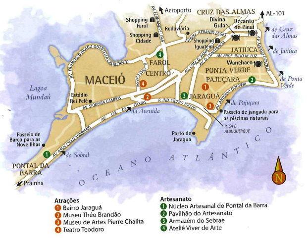 mapa Maceió Alagoas