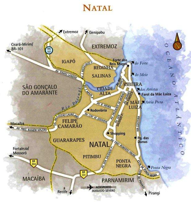 mapa Natal RN