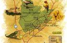 mapa do Parque Nacional da Capivara Piauí