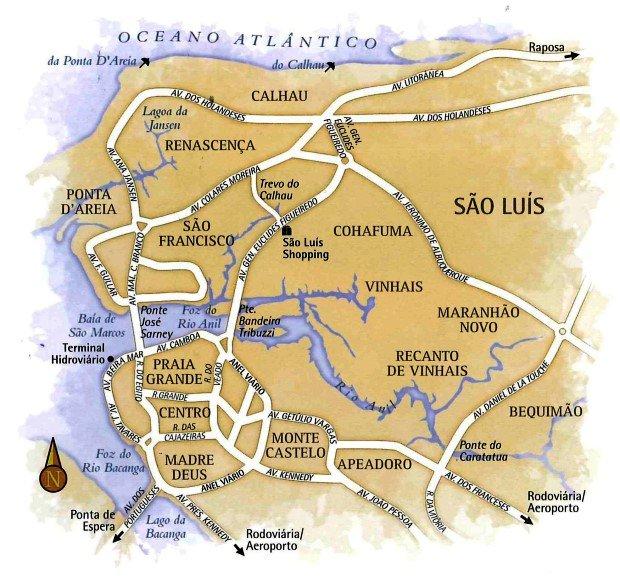 mapa São Luís do Maranhão