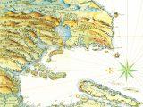 Mapa histórico da Baía de Todos os Santos de 1616.