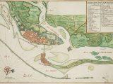Mapa de Recife no Brasil dos Holandeses