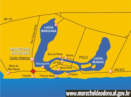 mapa turístico de Marechal Deodoro