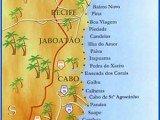 mapa litoral de Pernambuco