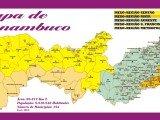 Mapa dos Municípios de Pernambuco