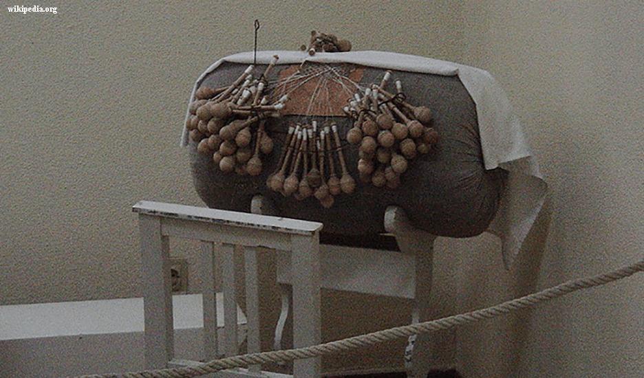 Artesanato de Renda de Bilro ou Artesanato de Renda de Almofada