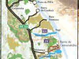 Mapa da Barra de Camaratuba na Paraíba