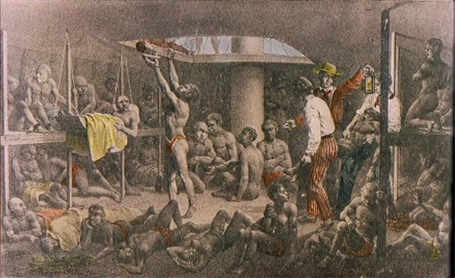 Navio negreiro. Rugendas, c. 1830.
