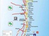 Mapa das praias de Pernambuco