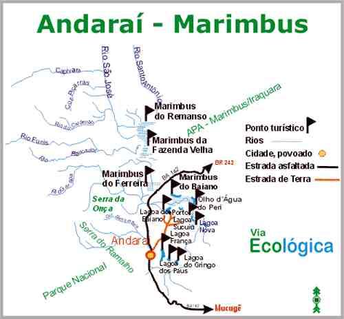 Mapa de Marimbus