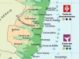 Mapa do extremo sul da Bahia