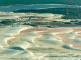 Vista aérea das dunas de Tatajuba