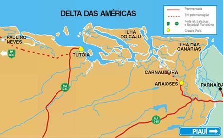 Tutóia é a saída para os Lençóis Maranhenses e o Delta do Rio Parnaíba