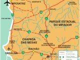 Mapa Parque Nacional da Chapada das Mesas