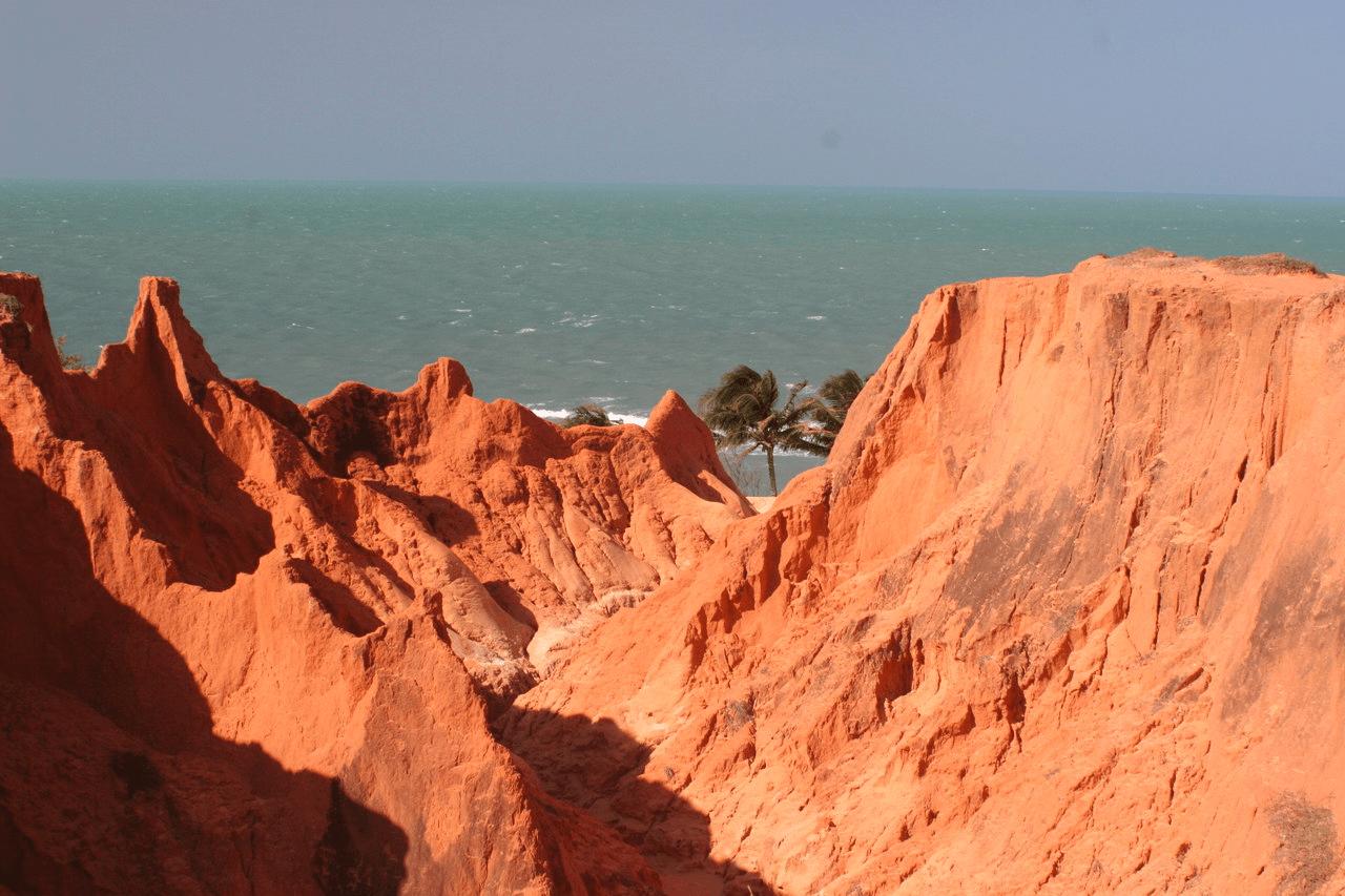 Praia de Morro Branco no Ceará
