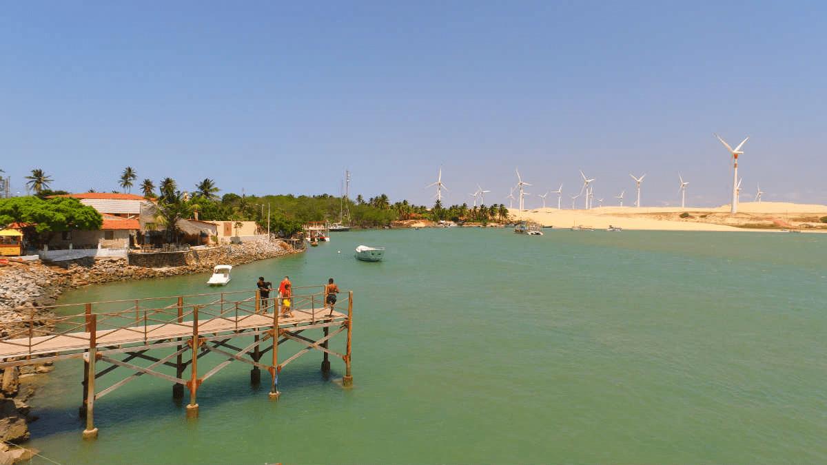 Praia de Mundaú no Ceará